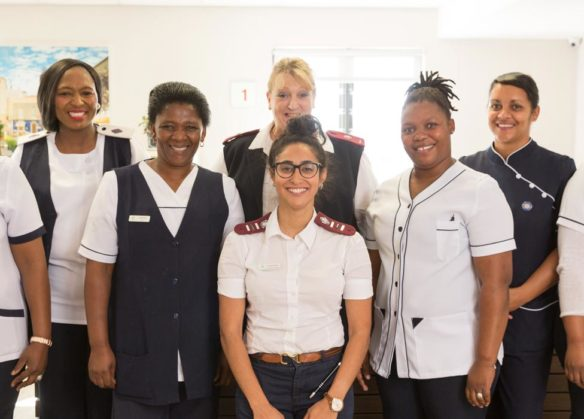 staff at Evergreen's healthcare unit