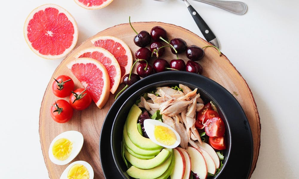 Board of healthy food for retired people