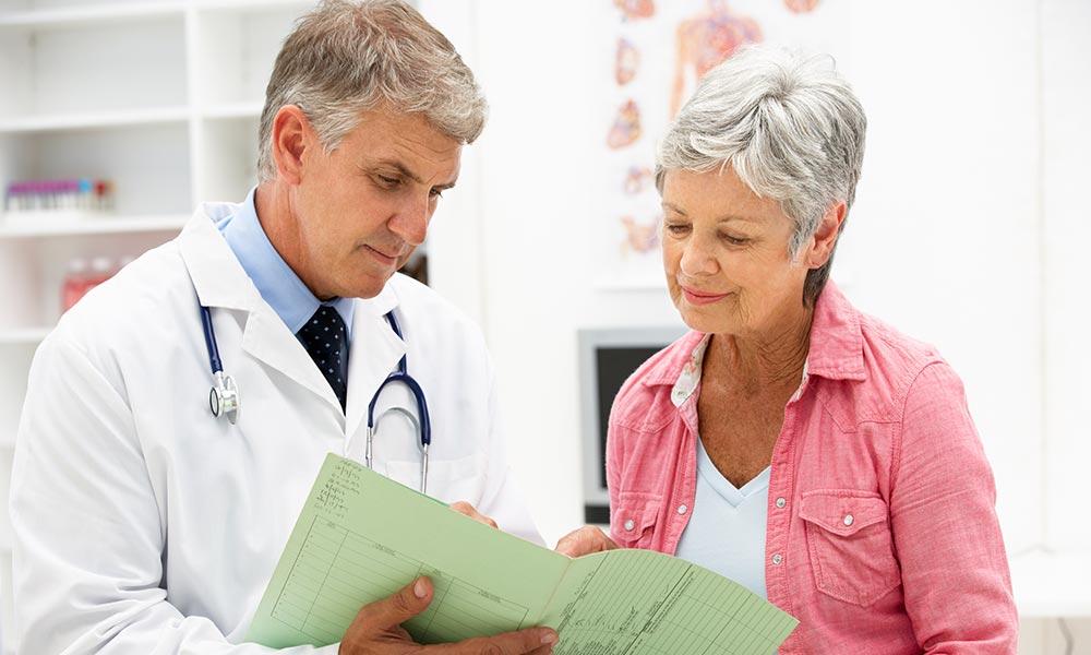 pensioner doing health checks